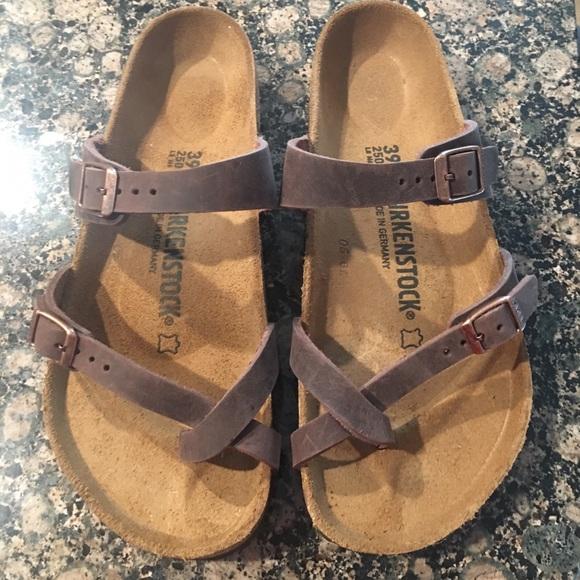 f2778d5ef1e Birkenstock Mayari Sandals -Size 39 Brown leather